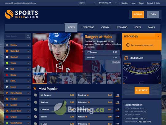 Sports Interaction.Com