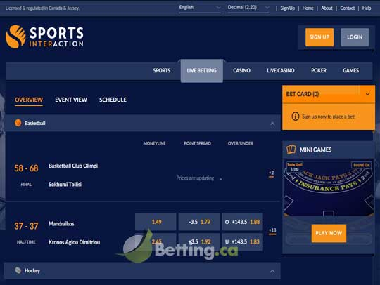 interaction sports betting