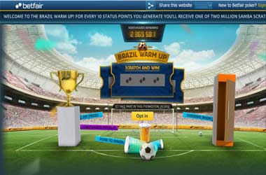 Betfair Brazil warm up promotion
