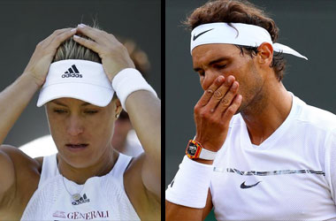 Angelique Kerber And Rafael Nadal Knocked Out Of Wimbledon 2017