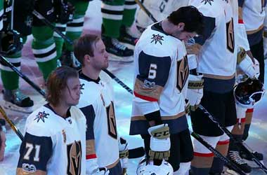 Las Vegas Golden Knights honoring Las Vegas Victims during Dallas Stars Game