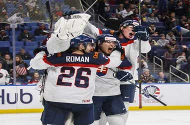Slovakia celebrate win vs USA at World Junior Cham