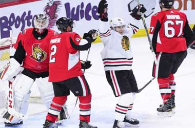 Chicago Blackhawks celebrate win vs Ottawa Senators: January 9th 2018