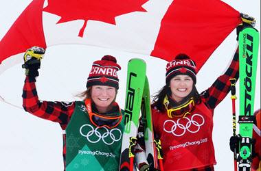 Canadian's Kelsey Serwa and Brittany Phelan Take Gold and Silver in Women's Ski Cross