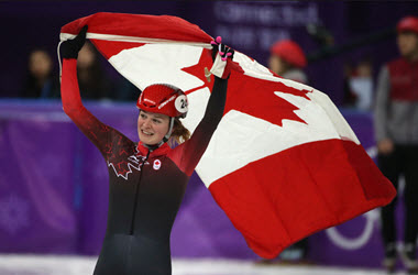 Canadian Skater Kim Boutin Wins Silver Medal in Women's 1000 Metre Short Track