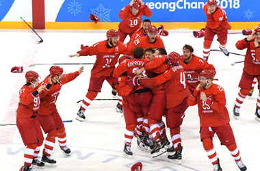 Russia Wins Gold in Men's Hockey Final Beating Germany 4-3 in Overtime