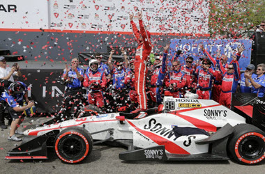 Sebastien Bourdais Takes the Checkered Flag at St. Petersburg