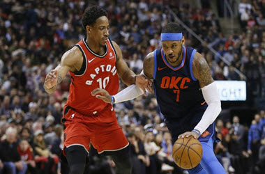 Oklahoma City Thunder Brings an End to The Raptors Winning Streak 132-125