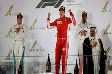 Sebastian Vettel Takes Checkered Flag at Bahrain Grand Prix