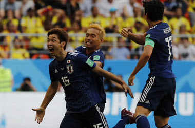 Japan Defeats Columbia with Help from Red Card Decision