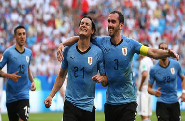 Uruguay Defeats Russia 3-0 to Rise to Top of Group A