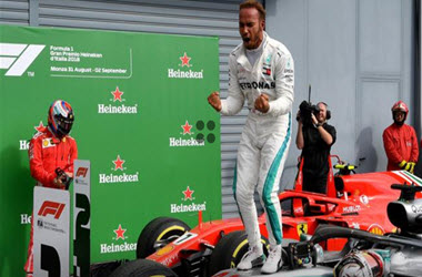 Lewis Hamilton Wins Fifth Italian Grand Prix