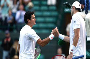 Milos Raonic Suffers fourth Round Loss to John Isner