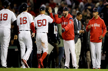 Boston Red Sox Tie AL Championship Series