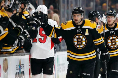 Boston Bruins Deny Senators Home Opener Win