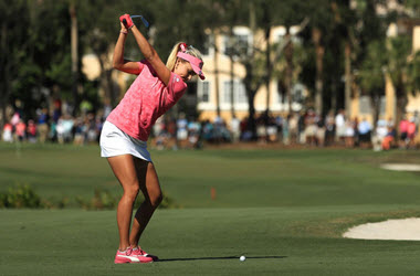 Lexi Thompson in Lead at the CME Group Tour Championship