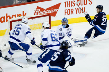Winnipeg Jets Defeat First Place Tampa Bay Lightning in Overtime
