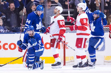 Maple Leafs come back to earn victory of the Red Wings
