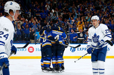 St. Louis Blues Defeat Maple Leafs earning 11th straight win