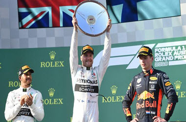 Valterri Bottas Takes Checkered Flag at Australian GP