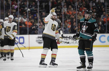 Vegas Knights Give Fleury his 7th Shutout against Ducks