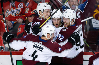 Colorado Avalanche Tie Series after Win in Overtime