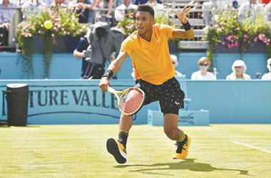 Miles Raonic out, Auger-Aliassime advances at Queen's Club Championships
