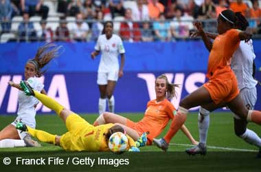Netherlands with winning goal against Canada at FIFA Women's World Cup 2019
