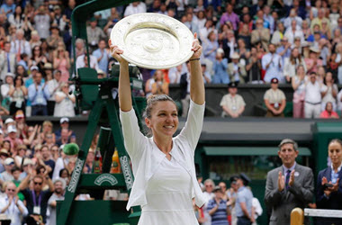 Halep Defeats Williams to Earn First Wimbledon Title