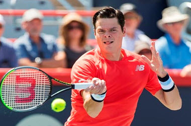 Milos Raonic Advances at Rogers Cup after Downing Lucas Pouille