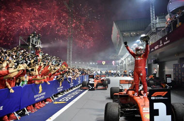 Ferrari's Sebastian Vettel Takes Win at Singapore Grand Prix