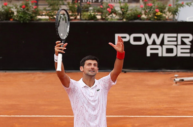 Novak Djokovic Advances to the Finals in the Italian Open