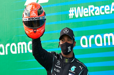 Lewis Hamilton ties Schumacher's Record with Eifel Grand Prix Win
