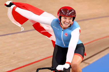 Kelsey Mitchell Wins Gold In Women's Track Cycling