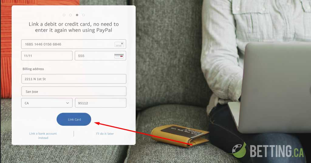 linking banking card with PayPal